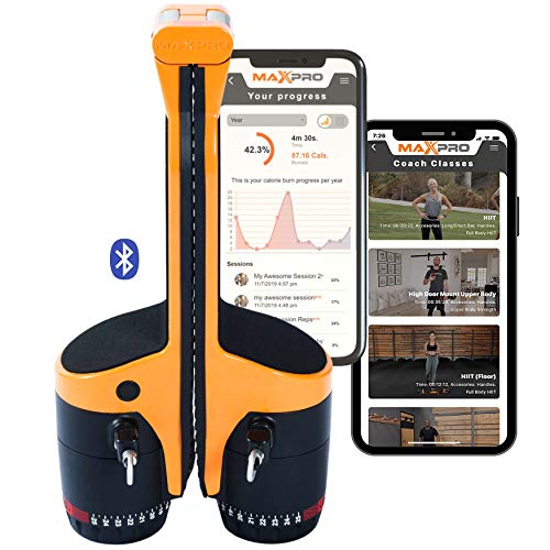 MAXPRO: Smart Cable Gym   All-in-One Machine w/Bluetooth – Free APP 100's of Workouts   Portable Exercise Anywhere…