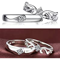jindarat Band Plated Jewelry Women And Men Heart Promise Wedding Fashion Ring Silver