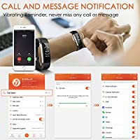 Fitness Tracker Aneken IP 67 Waterproof Smart Bracelet with Heart Rate  Monitor Activity Health Tracker Fitness Wristband Pedometer with Sleep  Monitor