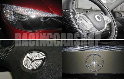 1998-2010 VW VOLKSWAGEN BEETLE INTERIOR EXTERIOR ICED OUT CRYSTAL BLING DIAMONDS 1999 2000 2001 ...