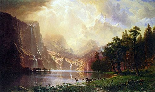 The Museum Outlet - Between the Sierra Nevada Mountains by Bierstadt - Poster Print Online Buy (60 X 80 - Shopping Outlets Nevada