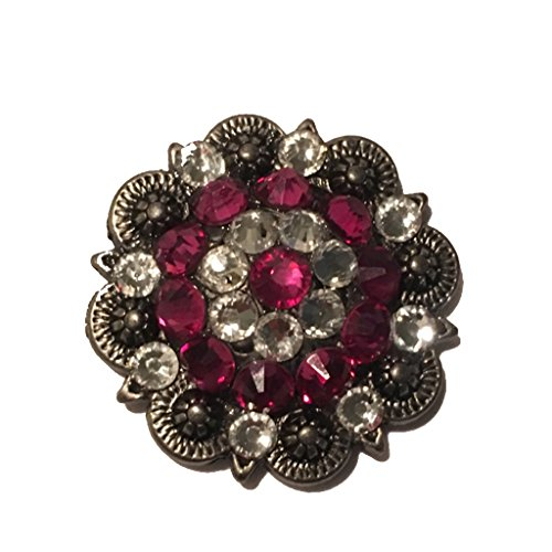 SPARKLING CRYSTAL CLEAR AND FUCHSIA BERRY CONCHO 1.5