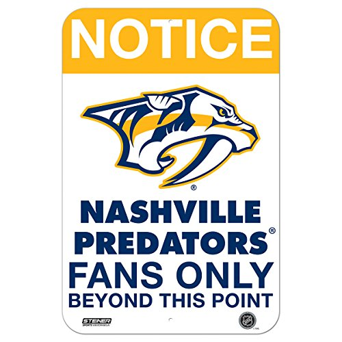 Nashville Predators Fans Only 8 Inch X 12 Inch Aluminum Sign