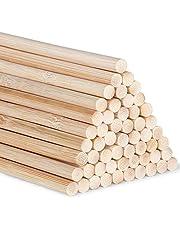 Bamboe deuvelstaven Craft Sticks 30cm/11,8 inch voor ambachtelijke projecten lange houten stokken voor doe-het-zelf, 55 stuks bamboe stok, hoogwaardige bamboe stokken (5mm/0,20 inch)