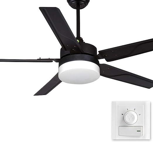 FANJIANI Ventilador de Techo Luz LED Ventilador de la Sala de ...