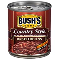 BUSH'S BEST Country Style Baked Beans, 8.3 Ounce (Pack of 12), Canned Beans, Baked Beans Canned, Source of Plant Based Protein and Fiber, Low Fat, Gluten Free