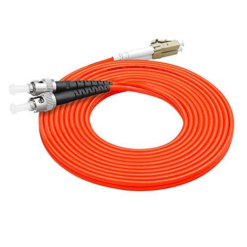 Fiber Optic Cable LC to ST Multimode Duplex OM1 62.5/125mm Fiber Optic Patch Cord (25m)