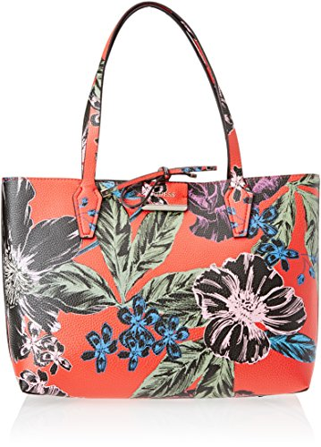 Red 5x27x42 12 Donna L Mano Borsa x x Hwfl6422150 Floral H Olive a Guess W cm 5 Rosso wfYqSv