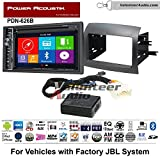 Volunteer Audio Power Acoustic PDN-626B Double Din Radio Install Kit with GPS Navigation Bluetooth CD/DVD Player Fits 2004-2010 Toyota Sienna with Amplified System
