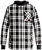 DC Men's Backwoods Insulated Flannel Shirt Water Proof Snowboard Jacket, Moderate Buffalo Plaid Silver Birch, M