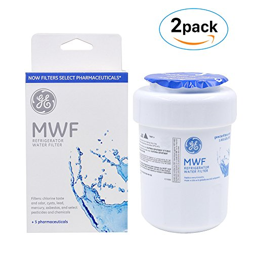 GE General Electric SmartWater MWF Refrigerator Water Filter, 2-Pack