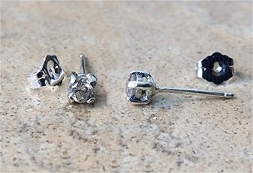 Genuine Diamond stud earrings in Sterling Silver or 14K Gold- approx .30 carats - April (14k April Birthstone Ring)