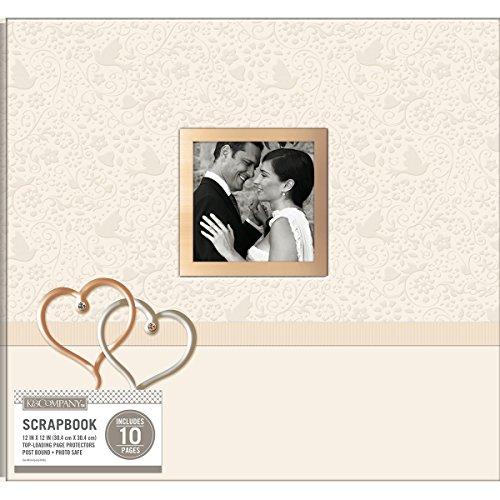 0 K&Co Scrapbook 12x12 Wedding Hearts Boxed Scrapbook 12x12 Wedding Hearts ()