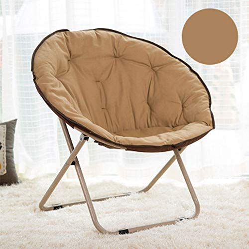 GJFeng Casual Adult Moon Chair Outdoor Folding Round Chair Office Lounge Chair (Color : Brass)