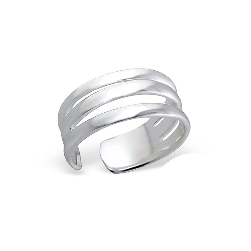 Worldjewelry Sterling Silver Toe Ring Stretch Infinity Wide Nicely Crafted Safe To Wear