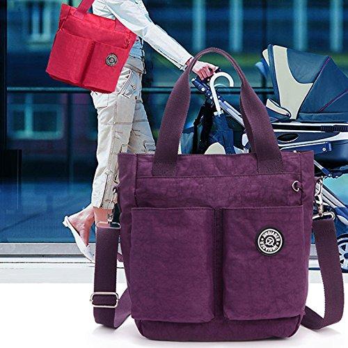sac messager impermeable decontractee de SODIAL Nouvelle en mode de Violet arrivee violet bandouliere nylon SIwIEq1x
