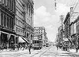 Portland Historic Black & White Photo, Traffic on Southwest Third Avenue, c1904