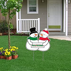 21 x 21 merry christmas snowman lawn display for Amazon christmas lawn decorations