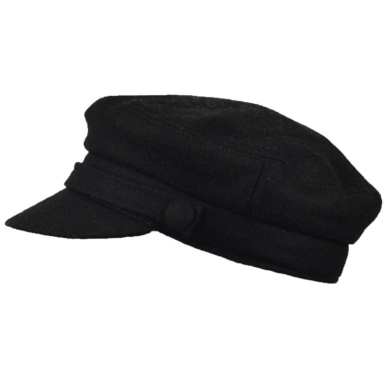 JMC Trading Company Black Wool Blend Fiddler Cap ac2b754cd5a9