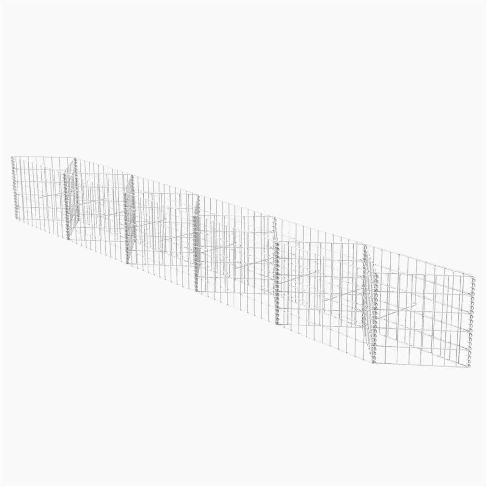 BLUECC Garden Fencing U-Shape Steel Gabion Basket/Planter/Raised Vegetable Bed (118.1''x11.8''x19.7'')