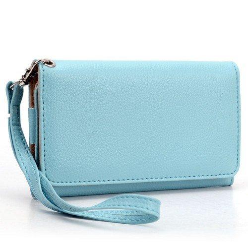 universal-smart-phone-wristlet-wallet-carry-case-purse-cover-w-strap-for-lg-lucid-4g-vs840-blue