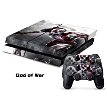 God of War's Decal Skin Stickers For Sony Playstation 4 PS4 Console + 2 Pcs Stickers For PS4 Controller