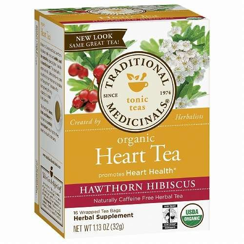 Traditional Medicinals Heart Tea with Hawthorn Hibiscus 16 ea (1 Pack)
