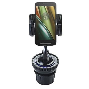 Sistema de soporte exclusivo comprensivo de soportes flexibles para parabrisas y portavasos para Motorola Moto E3 - Protege tu dispositivo de cualquier ...
