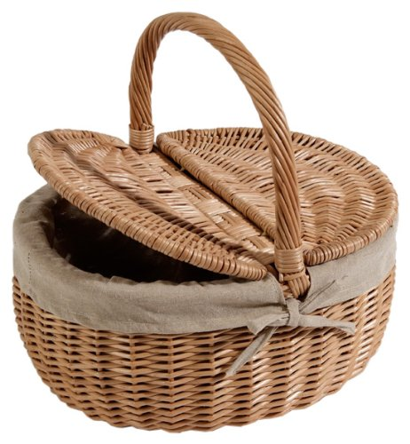 Nantucket Bike Basket Co Steps Beach Collection Oval Picnic Bike Basket with Quick Release (Natural, Adult)