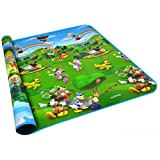 "Baby Kid Toddler Play Crawl Mat Carpet Playmat , Mickey and Winnie the Pooh Painting Foam Blanket Rug for In or Out Doors (78""X70""X0.2"")"