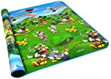 Baby Kid Toddler Play Crawl Mat Carpet Playmat , Mickey and Winnie the Pooh Painting Foam Blanket Rug for In or Out Doors (78