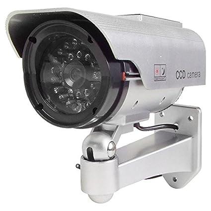 Simulador de cámara de vigilancia con LED y Solar
