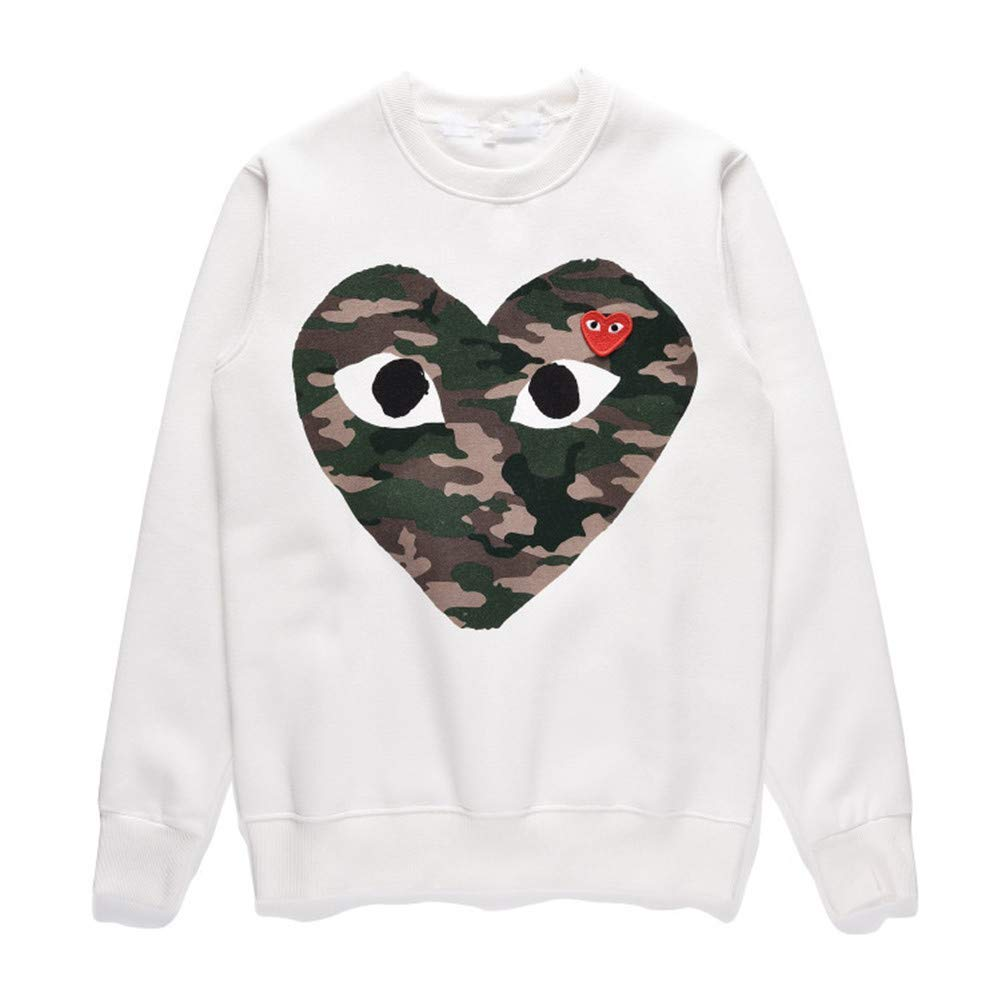 44878f77ad782 Amazon.com: Boydljy Comme des Garcons CDG Play T-Shirt Pullover Sweater  Men/Women Camouflage Couple: Clothing