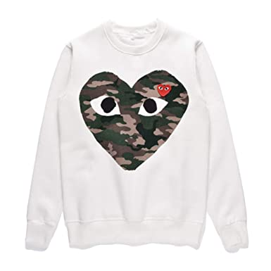 047f6a61f9b2 Amazon.com  Boydljy Comme des Garcons CDG Play T-Shirt Pullover Sweater Men  Women Camouflage Couple  Clothing