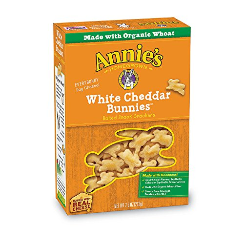 (Annie's White Cheddar Bunnies Snack Crackers 7.5 oz (Pack of 12) )