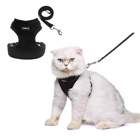 Kit de arnés, para gatos a prueba de grasa, ajustable,