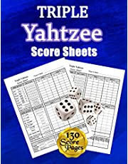 Triple Yahtzee Score Sheets: 130 Pads for Scorekeeping - Triple Yahtzee Score Cards | Triple Yahtzee Score Pads with Size 8.5 x 11 inches (Triple Yahtzee Score Book)