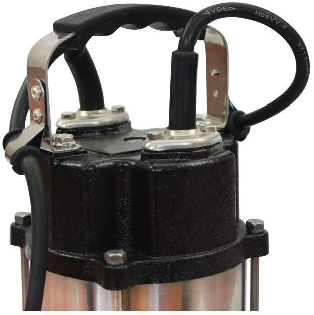 Stainless Steel with Floating Interruptor Max Depth 14M 30000L//h 8m Electric Cable 230V Submersible Water Pump for Sewage Water 2200W