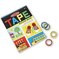 Melissa & Doug Tape Activity Book 4 Rolls of Easy-Tear Tape and 20 Reusable Scenes