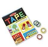 Image of Melissa & Doug Tape Activity Book: 4 Rolls of Easy-Tear Tape and 20 Reusable Scenes