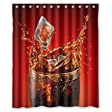 Coca Cola Shower Curtain Shower Curtain Custom Waterproof Bathroom Summer Cool Coke Polyester Fabric 60