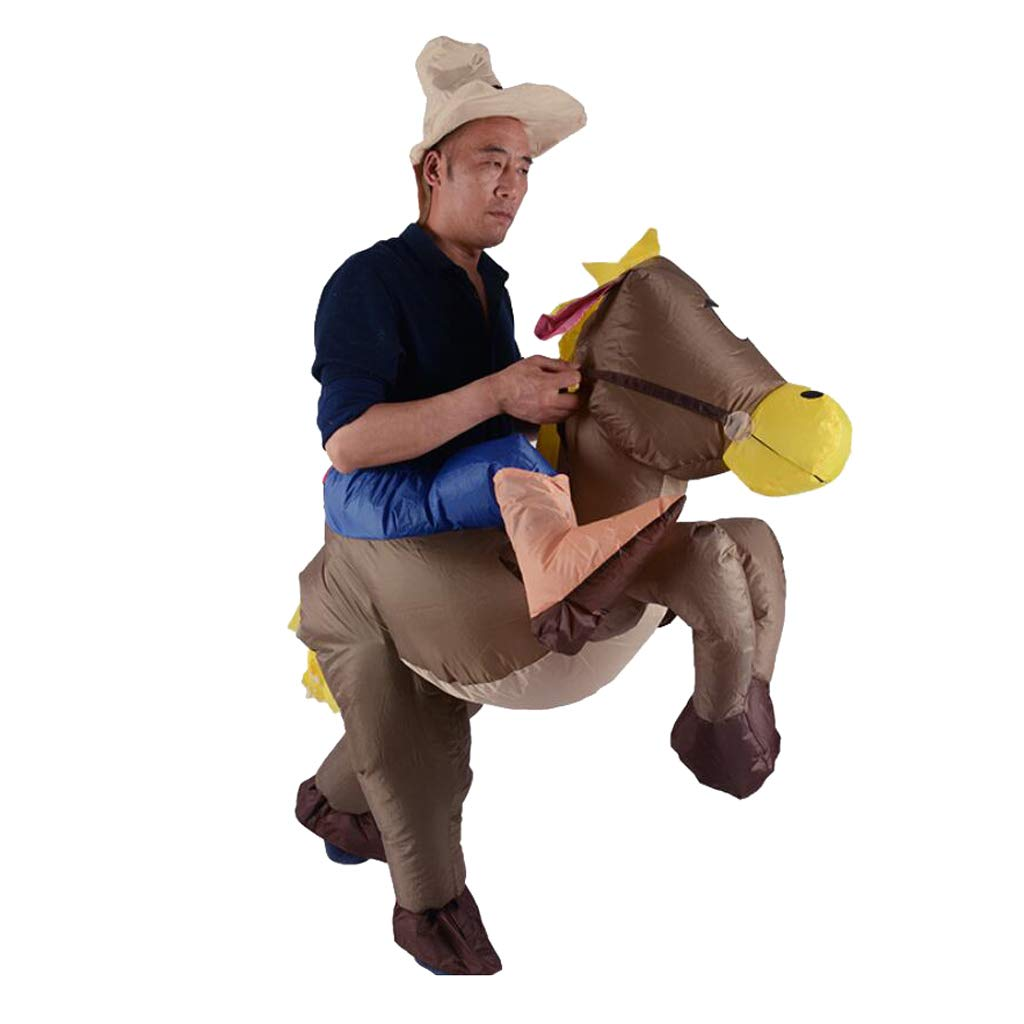 Amazon.com: Fityle Inflatable Donkey Rider Costume with Hat ...