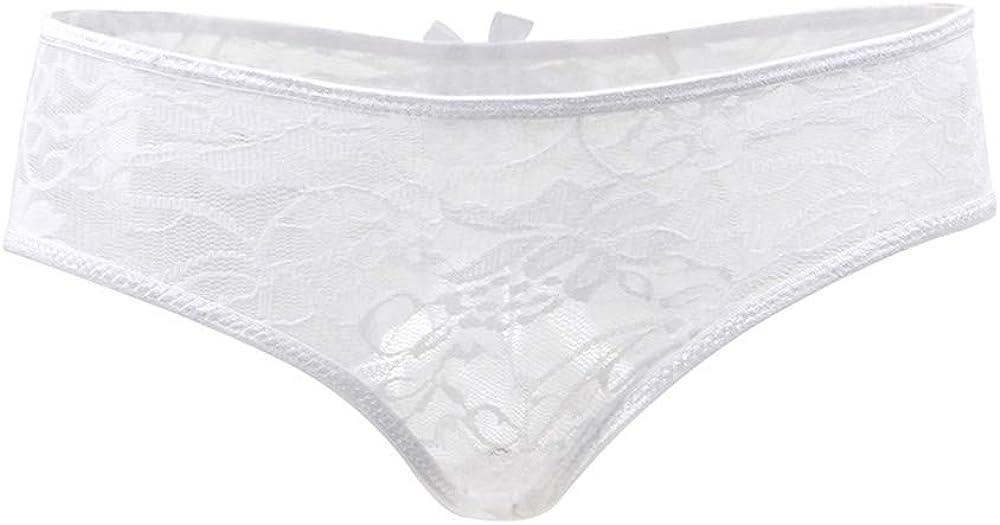 ohyeahlady Femme Culotte Dentelle Florale Slip sous-V/êtement Ouverte Grande Taille 36 /à 52 Trasparent Respirant Court