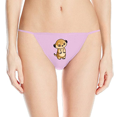 Little Cute Meerkat Printing Of Sexy Fashion Sleek Model Thong Panty