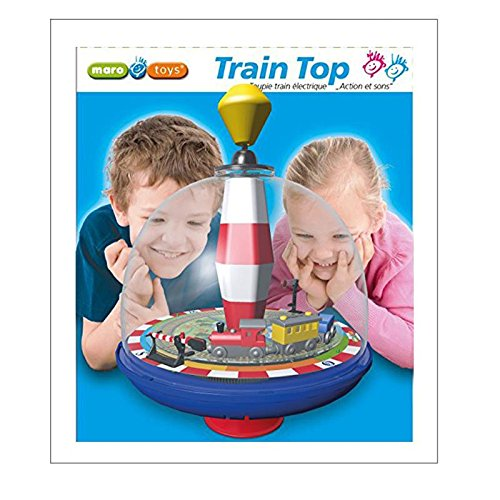 Maro Toys Train Top Spinning Playset with Lights and Music by Maro Toys