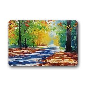 """dalliy Custom hojas de otoño de temporada Felpudo al aire libre interior 18""""x30"""" sobre 46cmx76cm, tela, E, 18"""" x 30"""""""