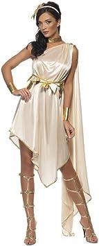 Disfraz diosa griega beige mujer S: Amazon.es: Juguetes y juegos