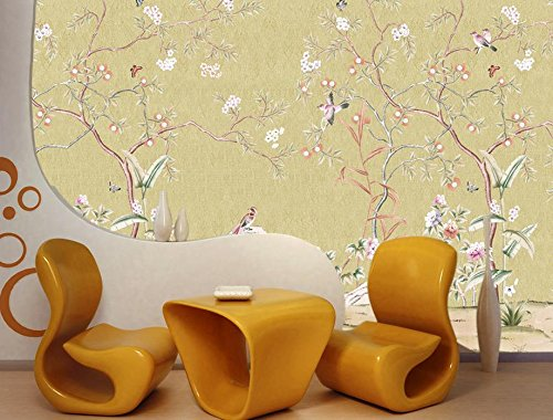 LHDLily 3D Murals Wallpaper For Living Room Hand-Painted Flower Bird Photo Wall Murals Wallpaper Wallpapers For Living Room 300cmX200cm