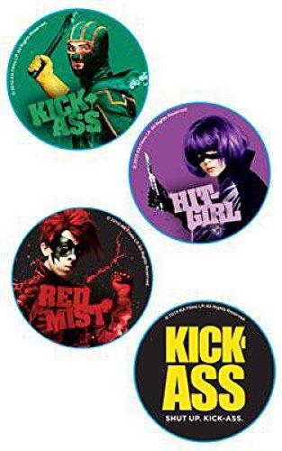 KickAss Mezco Toyz Pin Set KickAss, Hit Girl,