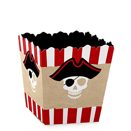 Big Dot of Happiness Beware of Pirates - Party Mini Favor Boxes - Pirate Baby Shower or Birthday Party Treat Candy Boxes - Set of 12